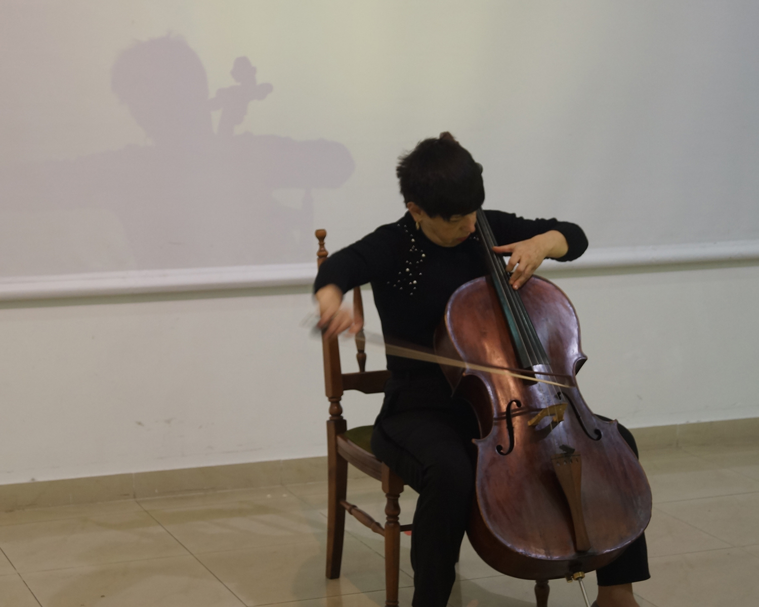 Ruzanna Abrahamyan - Professor at Yerevan State Conservatory after Komitas, musician, cellist