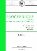 Proceedings of the YSU, Chemistry and Biology 2014 #2(234)