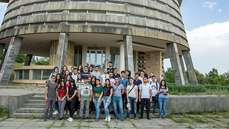 UNIVERSITY COMMUNICTY VISITS BYURAKAN OBSERVATORY AND TAKES PART IN OBSERVATION OF STARS